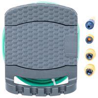 vidaXL Wand-Schlauchtrommel mit Schlauch Anthrazit Kunststoff