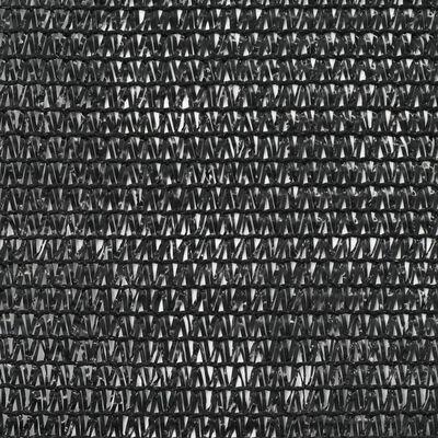 vidaXL Tennisblende HDPE 1,4x25 m Schwarz