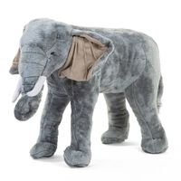 CHILDHOME Stehendes Spielzeug Elefant 77x33x55 cm Grau