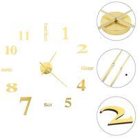 vidaXL 3D-Wanduhr Modernes Design 100 cm XXL Golden