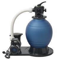 vidaXL Sandfilterpumpe 1000 W 16.800 L/h XL