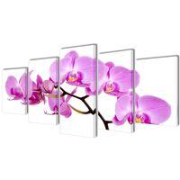 Bilder Dekoration Set Orchidee 100 x 50 cm