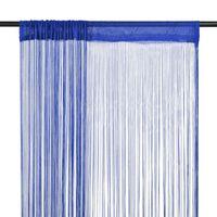 vidaXL Fadenvorhänge 2 Stk. 140 x 250 cm Blau