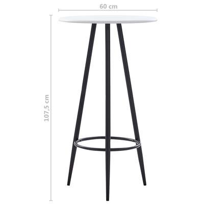 vidaXL Bartisch Weiß 60×107,5 cm MDF
