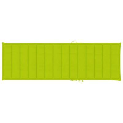 vidaXL Sonnenliege mit Auflage Akazie Massivholz
