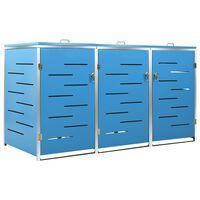 vidaXL Mülltonnenbox für 3 Tonnen 207x77,5x115 cm Edelstahl
