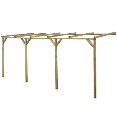 vidaXL Terrassen-Pergola 2x5x2,2 m Holz