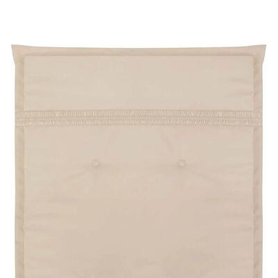 vidaXL Gartenstuhl Auflage Hochlehner 2 Stk. Creme 120 x 50 x 3 cm