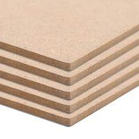 vidaXL MDF-Platten 10 Stück Quadratisch 60x60 cm 2,5 mm