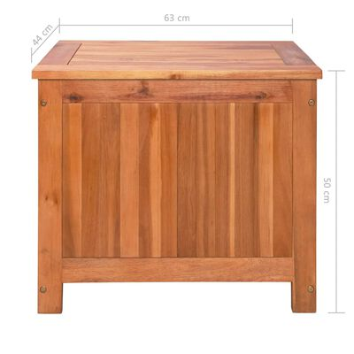 vidaXL Eisbox Akazienholz Massiv 63 x 44 x 50 cm