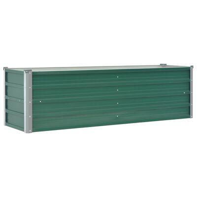 vidaXL Garten-Hochbeet Verzinkter Stahl 160x40x45 cm Grün