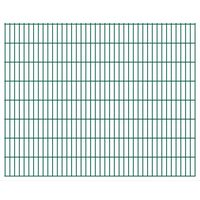 vidaXL 2D Gartenzaun-Elemente 2,008x1,63 m Gesamtlänge 30 m Grün