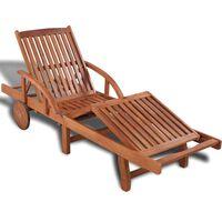vidaXL Sonnenliege aus Holz Verstellbar in 5 Positionen