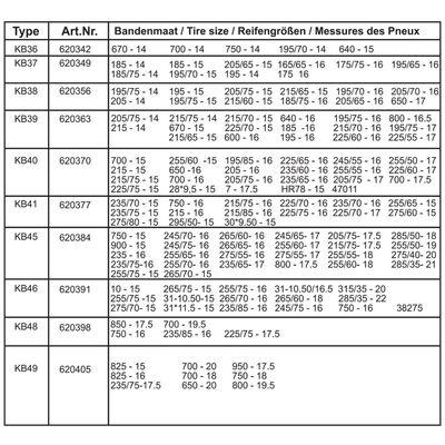 ProPlus Schneeketten für Autoreifen 16 mm KB38 2 Stk.