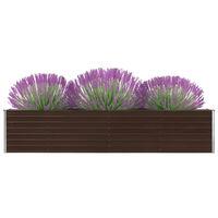 vidaXL Garten-Hochbeet Verzinkter Stahl 320×40×45 cm Braun