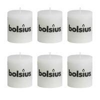 Bolsius Stumpenkerze Kerzen 80x68mm Weiß 6-tlg