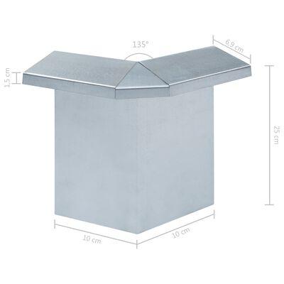 vidaXL Schneckenblech Eckteile 8 Stk. Verzinkter Stahl 10x10x25 cm