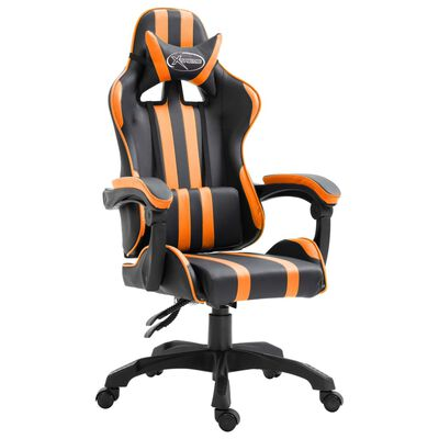 vidaXL Gaming-Stuhl Orange Kunstleder