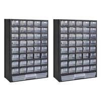 vidaXL Sortimentskasten mit 41 Fächern 2 Stk. Kunststoff