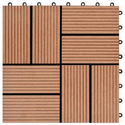 vidaXL Terrassenfliesen 11 Stück WPC 30 x 30 cm 1 qm Braun