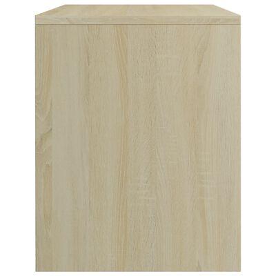 vidaXL Nachttisch Weiß und Sonoma-Eiche 40 x 30 x 40 cm Spanplatte