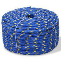 vidaXL Bootsseil Polypropylen 16 mm 250 m Blau