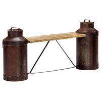 vidaXL Milchkannen-Sitzbank 150 x 33 x 64 cm Massivholz Mango