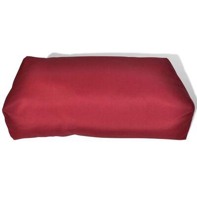 Auflagen Rückenkissen 60 x 40 x 20 cm Weinrot
