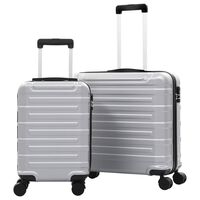 vidaXL Hartschalen-Trolley-Set 2 Stk. Silbern ABS