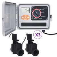 vidaXL Bewässerungssteuerung mit 6 Magnetventilen