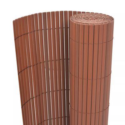 vidaXL Gartenzaun Doppelseitig PVC 90 x 500 cm Braun