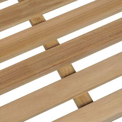vidaXL Gartenbank mit Weinroter Auflage 150 cm Massivholz Teak