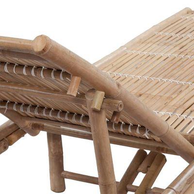 vidaXL Sonnenliege Bambus