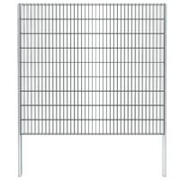 vidaXL Gabionenzaun Stahl Verzinkt 2,008x1,83 m Gesamtlänge 8 m Grau