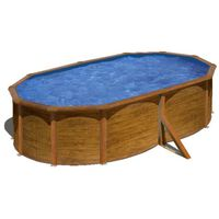 Gre Pool-Set Pacific Oval Braun 500x350cm KIT510WB