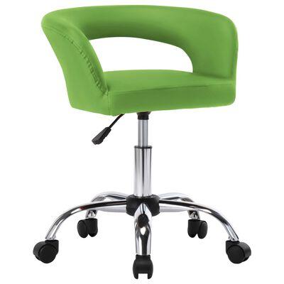 vidaXL Esszimmerstühle 2 Stk. Grün Kunstleder