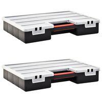 vidaXL Sortimentsboxen 2 Stk. Verstellbare Trennwände 460×325×80 mm