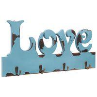 vidaXL Wandgarderobe LOVE 50 x 23 cm
