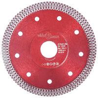 vidaXL Diamant-Trennscheibe mit Löchern Stahl 125 mm