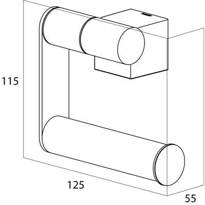 Tiger Toilettenpapierhalter WC-Rollenhalter Nomad Schwarz 249030746