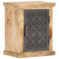 vidaXL Nachttisch mit Tür 40x30x50 cm Mango Massivholz