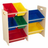KidKraft Spielzeug-Regal mit 7 Kisten Beige 83 x 30 x 73,7 cm 15470