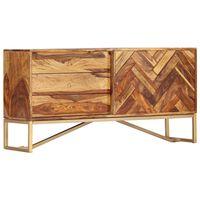 vidaXL Sideboard 118 x 30 x 60 cm Massivholz