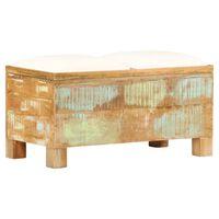 vidaXL Sitzbank mit Stauraum Altholz Massiv 80x40x40 cm