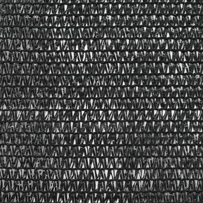 vidaXL Tennisblende HDPE 2x50 m Schwarz