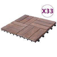 vidaXL Terrassenfliesen 33 Stk. 30x30 cm Recyceltes Massivholz