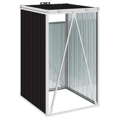 vidaXL Mülltonnenbox Braun 72×81×121 cm Stahl