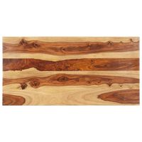 vidaXL Tischplatte Massivholz Palisander 25-27 mm 60×100 cm