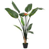 vidaXL Künstliche Strelitzia Reginae Paradiesvogelblume 155 cm