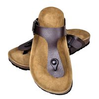 vidaXL Damen Biokork-Sandale im Flip Flop-Design Braun Größe 37